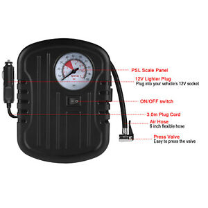 Tire Inflator Auto Air Compressor Portable Mini 12v For Cars Bikes Motorcycle Us