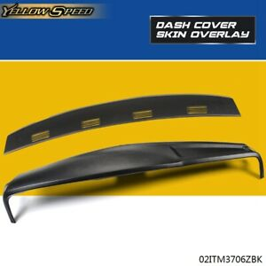 Black Molded Dash Cover Kit For 2002 2005 Dodge Ram 1500 2500 3500 2 Piece