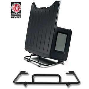 Hard Top Carrier Storage Cart Rack Sliding For 87 19 Jeep Wrangler Jk Jl Tj Yj