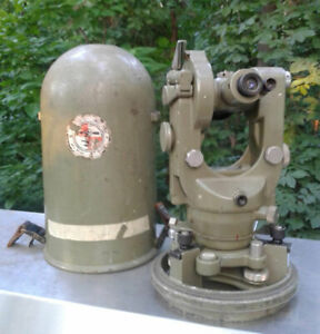 Wild Heerbrugg T1a Swiss Surveyor Transit W bullet Case