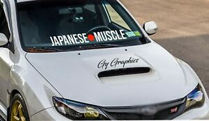 Japanese Muscle Windshield Decal Car Sticker Banner Graphic Low Stance Humble