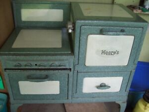 Antique Vintage Moore S Gas Stove Cream And Green 1920 S