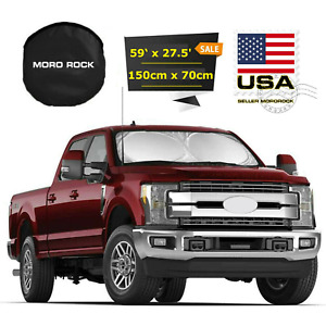 Large Size Foldable Truck Van Suv Car Sun Shade Windshield Visor Block Cover