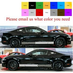 2 Decal Sticker Stripes Kit Set For Ford Mustang Gt Body Panel Parts Drug Race