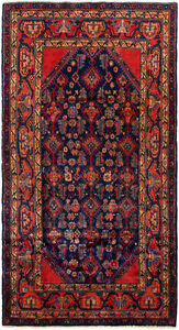Hand Knotted Carpet 4 4 X 8 1 Traditional Vintage Wool Rug