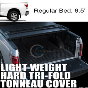 Tri Fold Hard Tonneau Cover Lw For 04 06 Toyota Tundra Double Crew 6 2 Short Bed