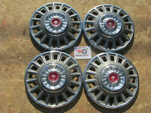 1968 Ford Mustang 14 Wheel Covers Hubcaps Set Of 4 Optional Red Center Set