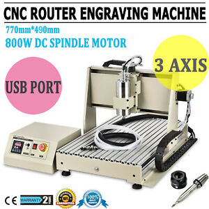 3axis Vfd 6040cnc Router Engraver Metal Mill drilling Machine 3d Cutter 1 5kw