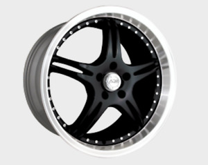 2x New 19x9 5 Adr 79 5x114 3 Battle Exe Wheels 35 Black Polished Lip Rims