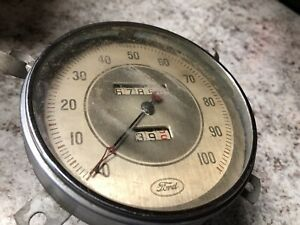 Vintage Antique Ford Speedometer V 8 Ford Hot Rod Rat Oem 100 Mph 1930s