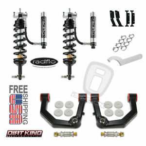Radflo 2 5 Shocks W Res Dirt King Boxed Mid Travel Kit Front 4 Runner Fj Cruiser