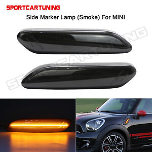For Mini Cooper R60 r61 Countryman Light Bar Smoked Led Side Fender Marker Light