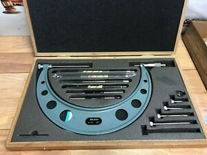 Mitutoyo No 104 138 6 12 Micrometer 001 Set W case