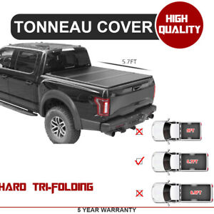 Hard Tri Fold Frp Tonneau Bed Cover Fits Dodge Ram 2009 2018 2019 Classic 1500