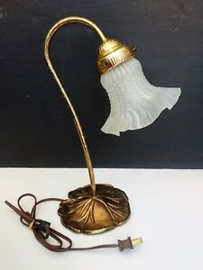 Vintage Tulip Shade Art Nouveau Lilly Pad Lamp
