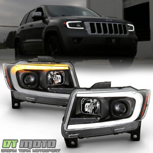 2011 2013 Jeep Grand Cherokee Switchback Led Drl Sequential Projector Headlights