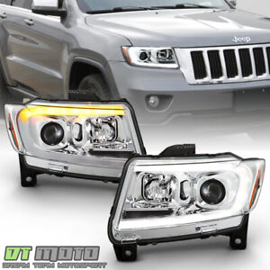 2011 2013 Jeep Grand Cherokee Led Switchback Sequential Drl Projector Headlights