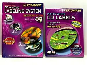 Stomper Pro Cd Dvd Labeling System And Box Of Cd Labels Total Of 680 Labels Nos