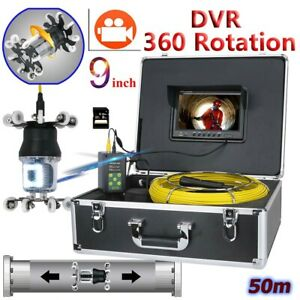50m Sewer Pipe Pipeline Drain Inspection 9 dvr Video Recording 360 Degree Camera