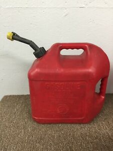 Vintage Blitz 5 Gallon Gas Fuel Can Jug 50833 Spout Plastic 2 Handle