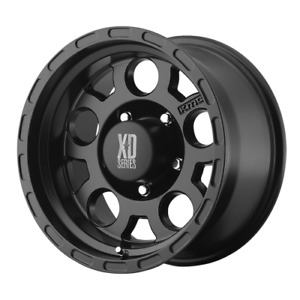 4 15 Inch Xd122 Jeep Wrangler 1987 2006 Yj Tj Black Wheels Rims 15x9 5x4 5