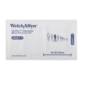 Welchallyn Flexiport Disposable Blood Pressure Cuff 1 Tube Adult 11 Lot Of Two