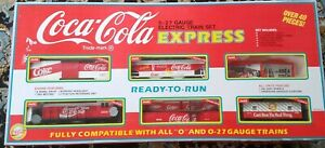 COCA-COLA EXPRESS 0-27 Gauge Electric Train Set 1992 VINTAGE COLLECTIBLE