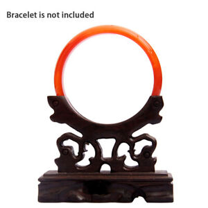 Jade Bracelet Display Stand holder Wood Jewelry Hanger Rack Home Decoration