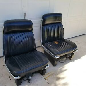 1966 Chyrsler Imperial Crown Coupe Power Leather Bucket Seats