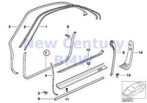 Bmw Genuine Edge Protection coverings Rockers Edge Protection Right Anthracite E