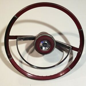 1967 Ford Fairlane Steering Wheel And Horn Ring Vintage Original Nice