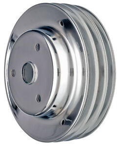 Crankshaft Pulley 3 Groove Chevrolet 283 350 Long Water Pump chrome Fits 1969 19