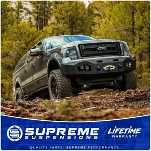 Heavy Duty Off Road Utility Front Bumper Premium Winch Ready For 09 14 Ford F150