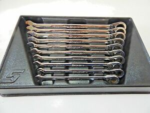 Snap On Srxrm710 Speed Open End Ratcheting Box End Wrench Set 10mm 19mm