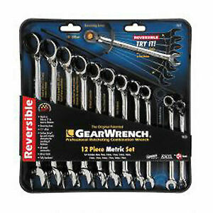 Gearwrench 9620n 12 Piece Reversible Metric Ratcheting Wrench Set Brand New
