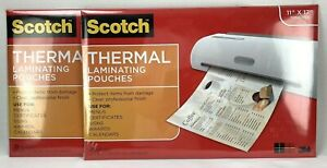 Scotch Laminating Pouches 2 Packs 50 Pouches 11 4 X 17 4