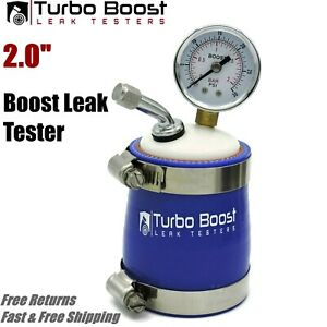 2 Inch Turbo Boost Leak Tester Intake Charge Detector 30psi W Tire Fitting