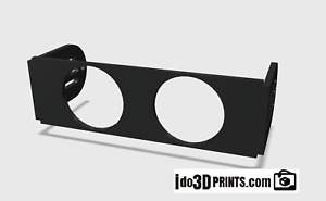 Universal Din Gauge Pod 52mm 2 1 16 Double Pod Radio Mount