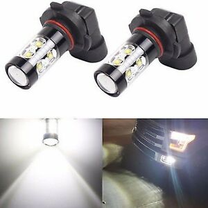 2x White 9145 H10 Led Fog Lights For Toyota Sequoia 2008 2017 Tundra 2007 2013