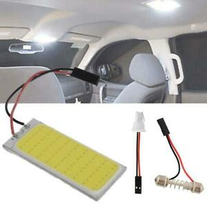 2pcs Xenon Hid White 36 Cob Led Dome Map Light Bulb Car Interior Panel Lamps 12v