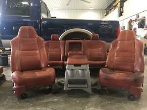 Ford F250 F350 King Ranch Leather Seat Set Crew Heat 08 09 10 11 12 13 14 15 16