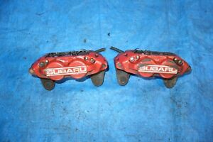 Jdm Subaru Impreza Wrx Sti Legacy Forester Front 4 Pot Piston Brake Calipers