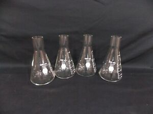Kimax Kimble 500ml Long Neck Flask 25615 Set Of 4