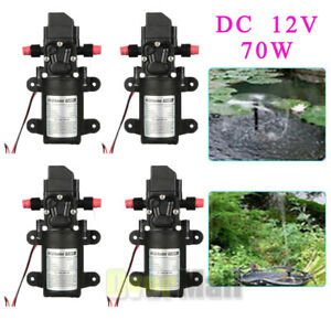 4pcs 6l min Dc 12v 70w High Pressure Micro Diaphragm Water Pump Automatic Switch