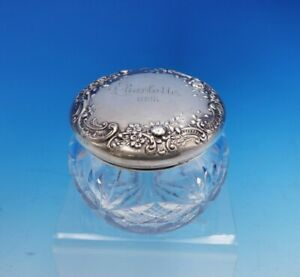 Gorham Sterling Silver And Glass Crystal Powder Jar S2595 2 1 2 Tall 3471