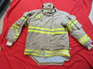 Morning Pride Firefighter Turnout Bunker Jacket 42 Chest 32 Sleeve Snap In Liner