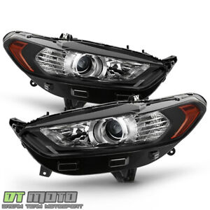 Black 2013 2014 215 2016 Ford Fusion Projector Headlights Headlamps Left Right