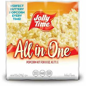 Microwave Jolly Time All In One Kit For 8 Oz Popcorn Machine Portion Packet Oil