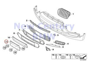 Bmw Genuine Mounted Parts Bumper Registration Plate Cover Us E70
