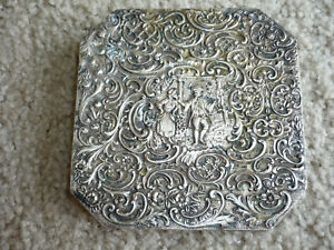 Very Nice Antique Repousse Silverplate Trivet Barbour S P Co C 1900